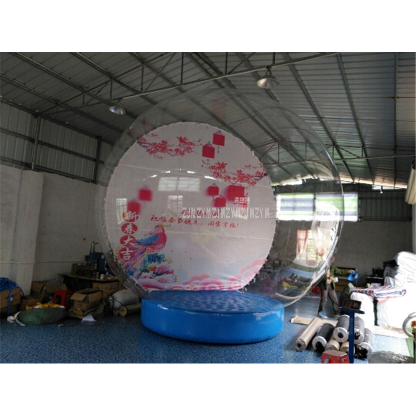 3m Diameter 0.8mm Transparent PVC Blow Up Ball Inflatable Round Balloons for Chirstmas Decoration Advertising With Air Blower