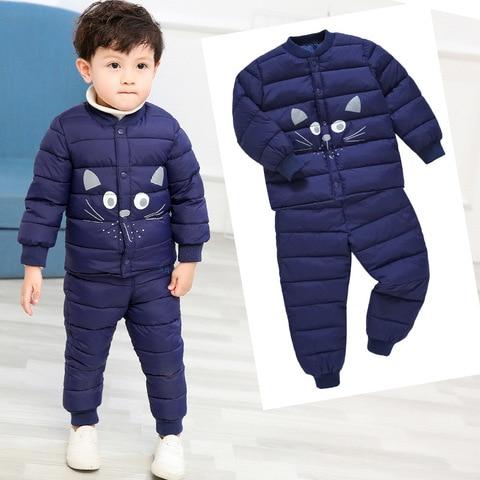 hylkidhuose inverno bebe meninas meninos conjuntos de roupas dos desenhos animados casacos quentes calcas da