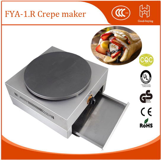 Restaurant 40cm diamater gas commercial pancake baker machine crepe maker