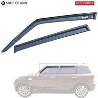 1Sets 4pcs Sun Rain Guards Acrylic Translucent Smoky Color For Mini Cooper Countryman Hatchback Clubman F54