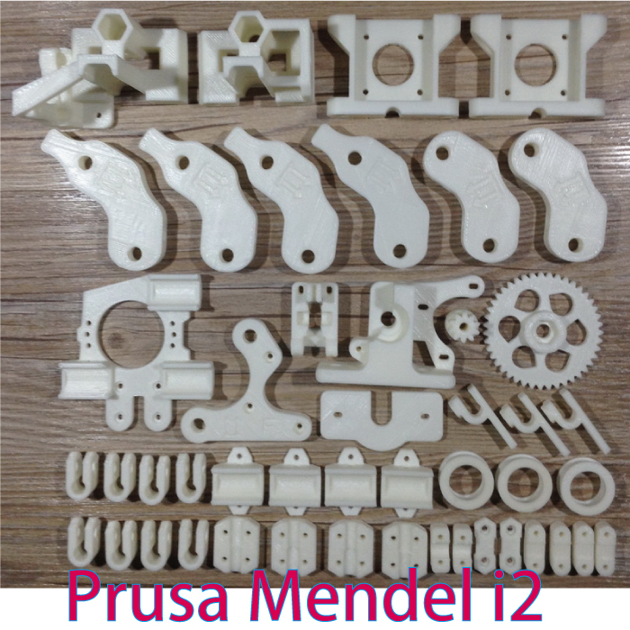 HOT!Heacent Open RepRap Prusa Mendel i2 Reprap Prusa Mendel i2 3D Printer Required PLA Plastic Parts Set Printed Parts Kit
