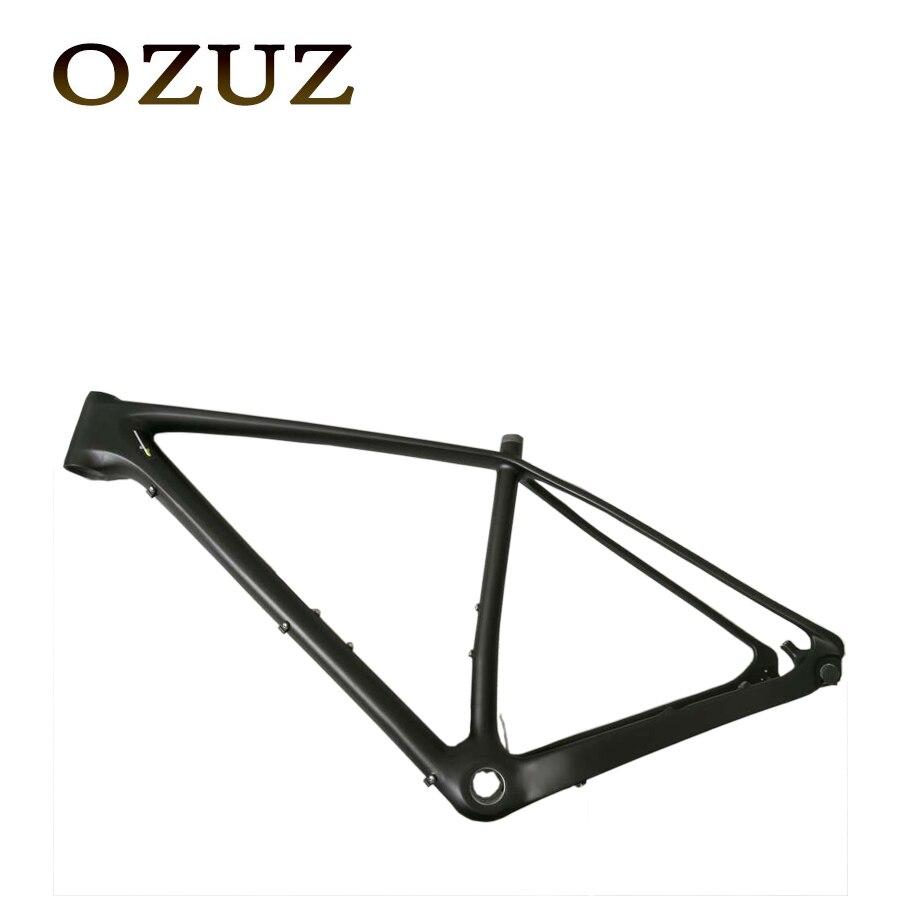 OZUZ Ship From Germany 17 inch 19 inch Carbon Fiber MTB Bike Bicycle Frame UD Matte Super Light Carbon Frameset&Fork