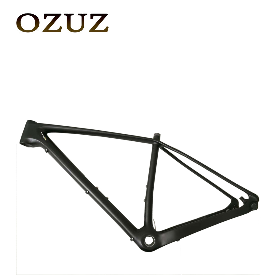 OZUZ Ship From Germany 17 inch 19 inch Carbon Fiber MTB Bike Bicycle Frame UD Matte Super Light Carbon Frameset&Fork sobato 650b full carbon mtb frame 27 er frame with fork ud matte bike frame fork handlebar 14 5 16 17 19
