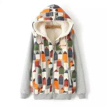 Cartoon House Plus Velvet Cotton Padded Jacket Thick Female Japanese Sen Female Line 2016 Winter Dress Spot Wholesale