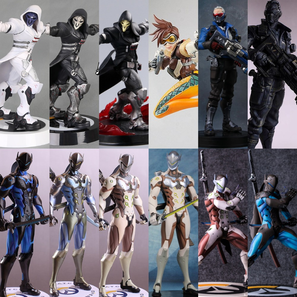 OW Action Figure Tracer Death Reaper WINSTON/SOLDIER D.VA PVC Statue No Box Overwatches Game Movie (CN Version) Anime Figure