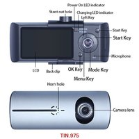 R300 Dual Lens Dash Cam 2.7 Full HD Car DVR Camera Video Recorder GPS Logger