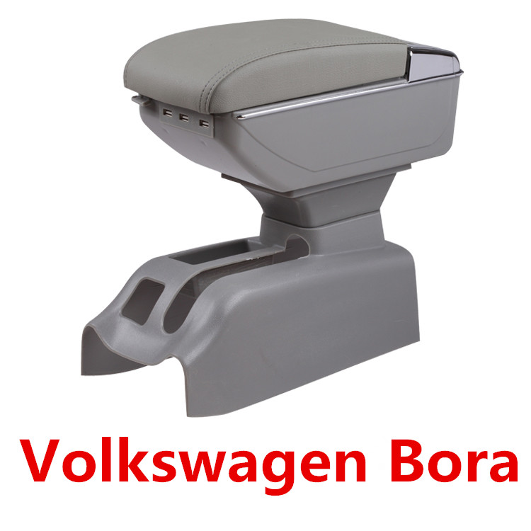 Pour Volkswagen Bora Golf 4 accoudoir boîte centrale magasin contenu boîte de rangement support de verre cendrier console bras PU cuir voiture style