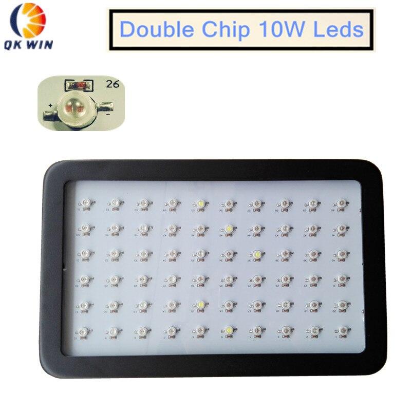 Double chip 600W LED Grow Light 142W True Power Full Spectrum for Hydroponic Planting shipping видеорегистратор artway av 711 av 711