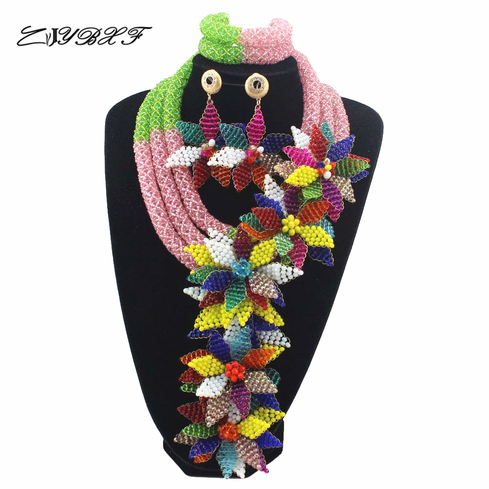 Wonderful Multicolor Wedding Beads African Costume Jewelry Set Crystal Flower Falls Engagement Jewellery Set Free ShippingHD7641Wonderful Multicolor Wedding Beads African Costume Jewelry Set Crystal Flower Falls Engagement Jewellery Set Free ShippingHD7641