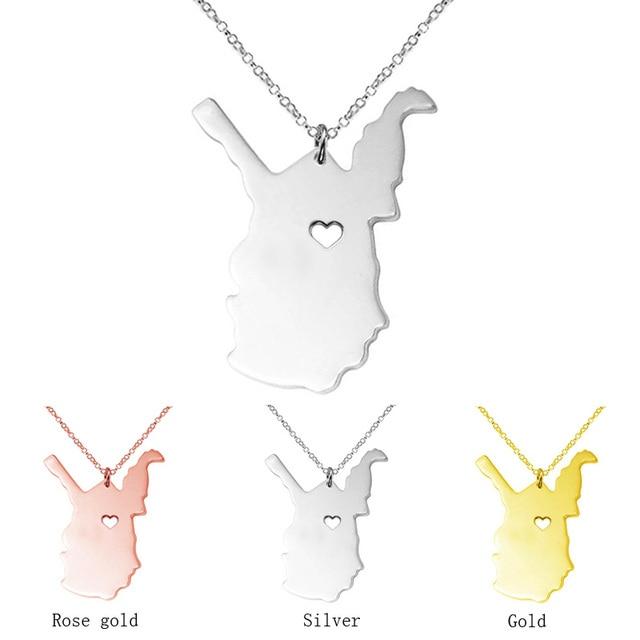 West virginia necklace map pendant necklaces usa state pendants west virginia necklace map pendant necklaces usa state pendants map necklace with a heart handmade aloadofball Gallery
