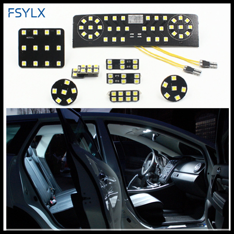 FSYLX for VW LED interior Lamps SMD Car LED interior Reading light for VW Passat B6 CC Jetta MK5 Trunk Reading Light Panel Kit for volkswagen passat b6 b7 b8 led interior boot trunk luggage compartment light bulb