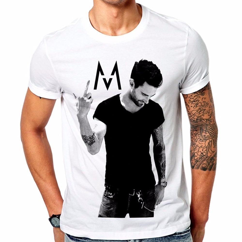 Cool Tee Shirt Designs Mens Maroon 5 FC Rock T-Shirt O-Neck Short Sleeve Broadcloth T Shirt