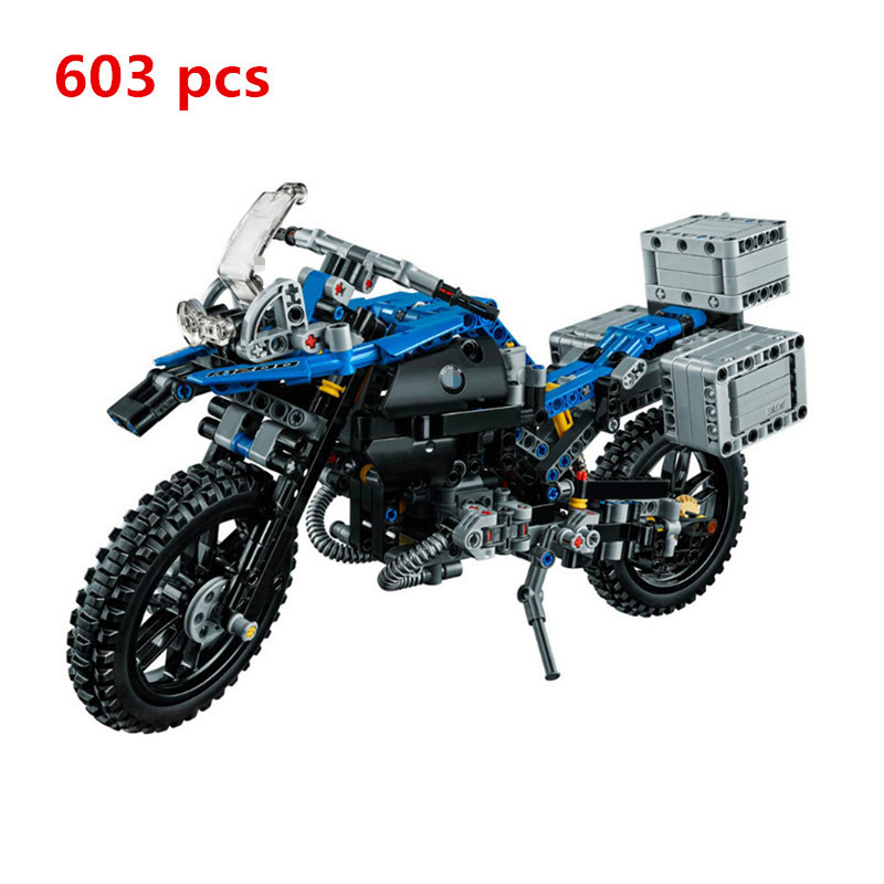 Lepin 20032 Building Blocks Compatible Technic Figures The Off-road Motorcycles 42063 Model Car Toys Children Kids Gift decoo 3369 technic series the bamw off road motorcycles r1200 gs building blocks bricks educational toys lepin 20032 b11