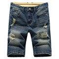 Бесплатная доставка 2017 новая мода мужская короткие джинсы хлопок летом стиль шорты тонкий дышащий джинсовые шорты мужчин джинсы