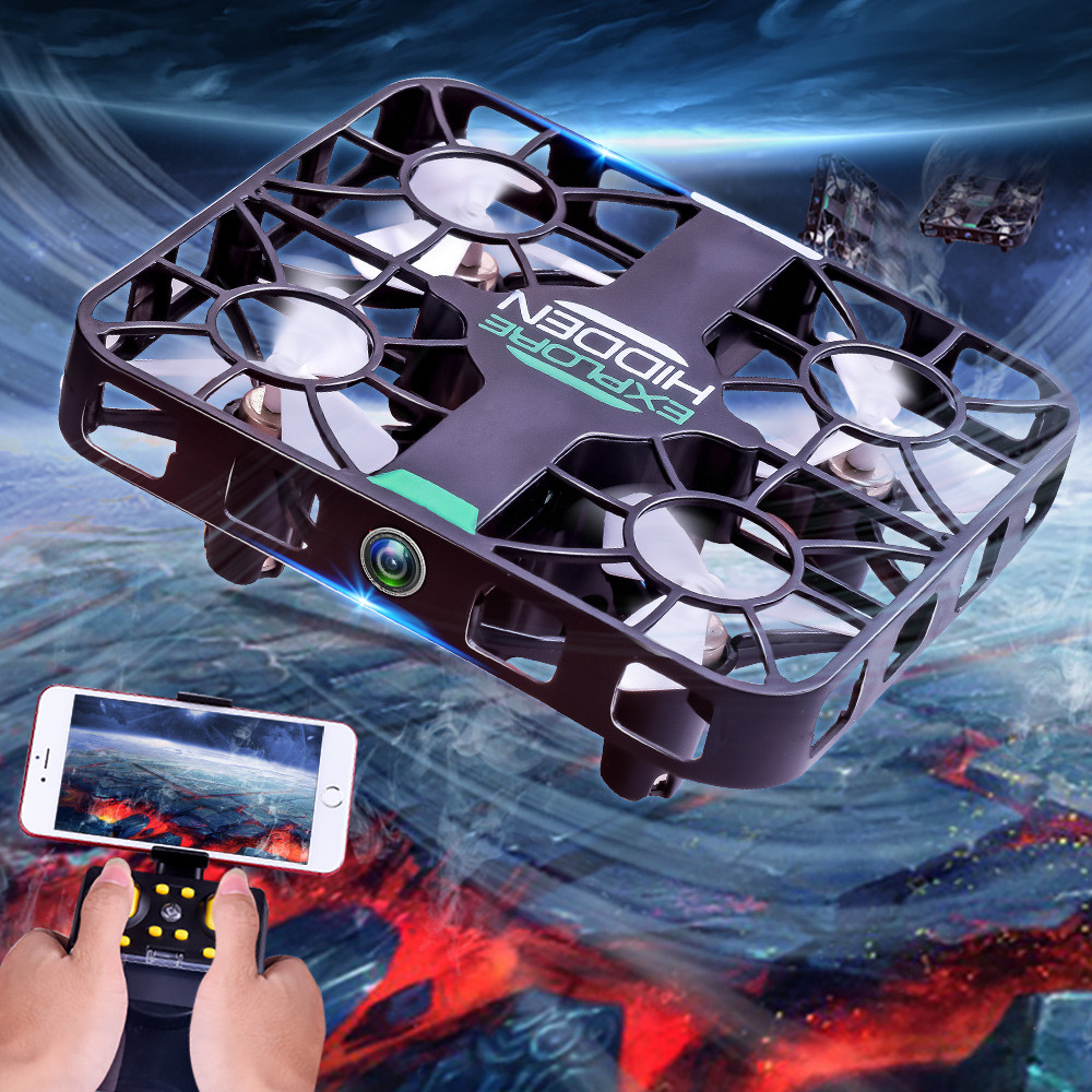 2019 New Year Gifts Helicopter Radio Remote Control Altitude Hold HD Camera RC Quadcopter Drone With 0.3MP Camera