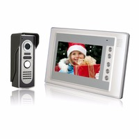 Home Security 7 Inch TFT LCD Monitor Color Video Door Phone Intercom System IR Outdoor Camera