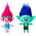New 2pcs/set Trolls Mega Town The Good Luck Trolls plush toys Ogres Poppy and Branch Cartoon anime  Stuffed Dolls
