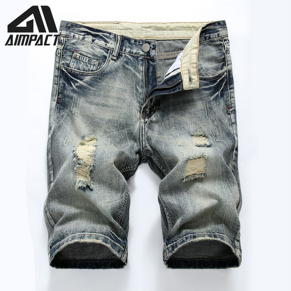 794c4950cdfb1 Винтажные джинсовые шорты для мужчин ковбойские рваные джинсы мужские  плавки мужские летние тонкие приталенные Hi-Street Проблемные облегающи.