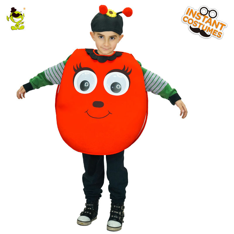Unisex New Design cute ladybug Costume Lovely Girls&Boys Halloween Fancy Dress Cosplay Outfits Clothings For Carnival Party