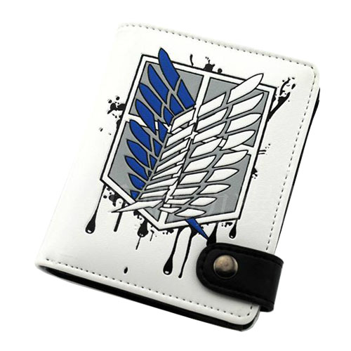 HOT Anime Attack on Titan Shingeki no Kyojin Cosplay Wallet Purse Cosplay Accessory Bag Collectible Gift Toy cosplay