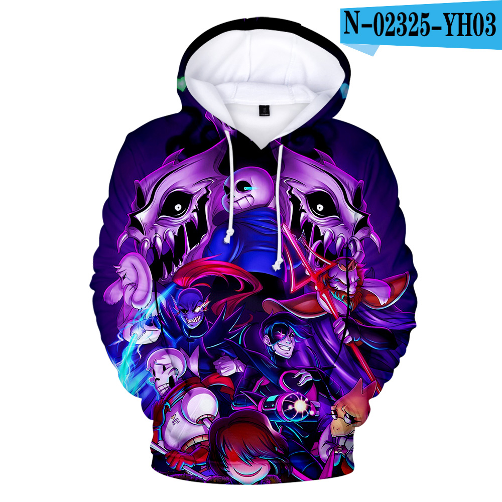Game Undertale Sweater Hoodie Round Neck Pullover Chara Cosplay Costume Tops