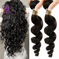 ALIMICE Cheap Brazilian Hair Bundles 3 Brazilian Loose Wave Hair Extensions Natural Hair Wavy 100% Natural Brazilian Virgin Hair