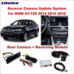 Liislee Original Bildschirm Update-System Für BMW X4 F26 2014 ~ 2016/Umkehr Modul + Hinten Kamera/Dekodierung track Box NBT System