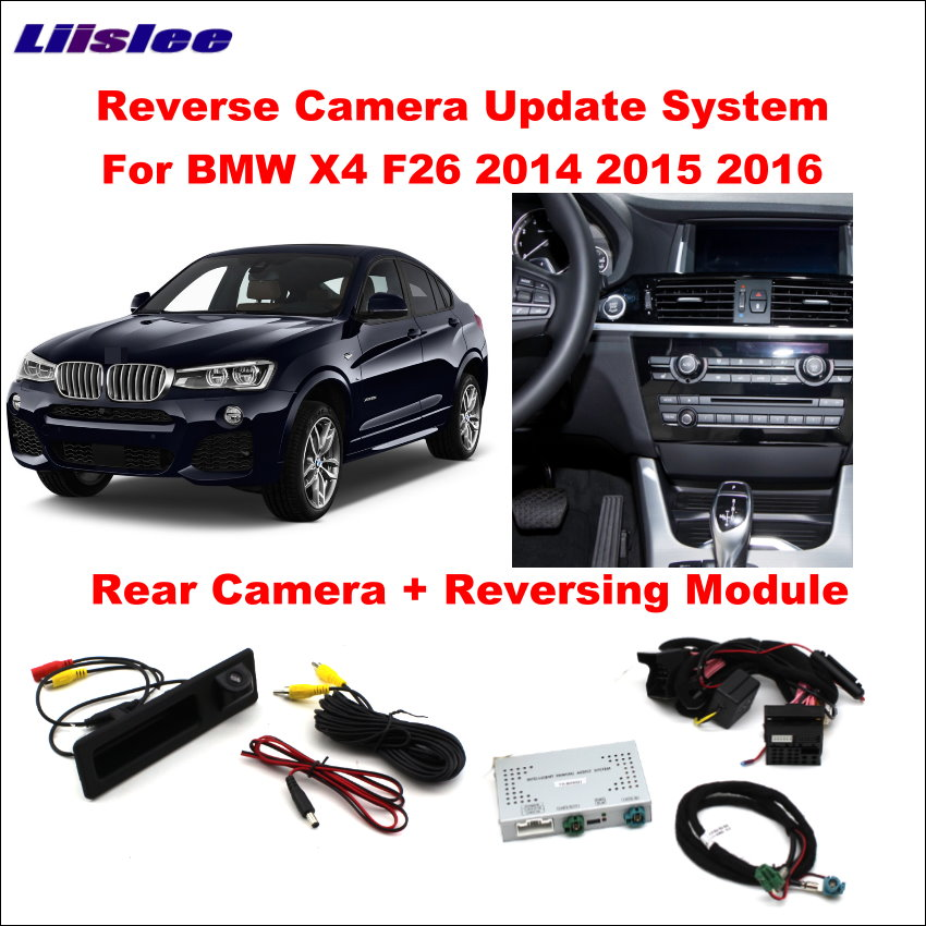 Liislee Original Screen Update System For BMW X4 F26 2014~2016 / Reversing Module + Rear Camera / Decoding Track Box NBT System