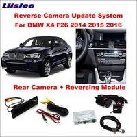 Liislee Original Screen Update System For BMW X4 F26 2014~2016 / Reversing Module + Rear Camera / Decoding Track Box NBT System