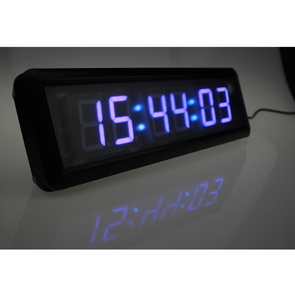 Dhl free shipping beautiful large led digital wall clock modern design home decor stopwatch - Giant stopwatch wall clock ...