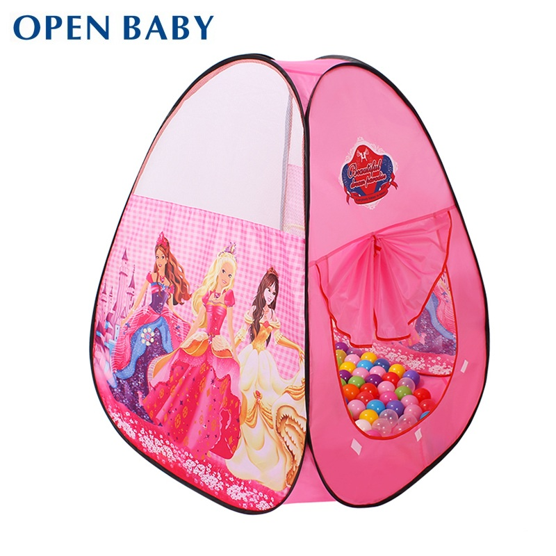open baby best quality original design princess new arrival child game house large baby kids ocean ball pit pool play toy tent
