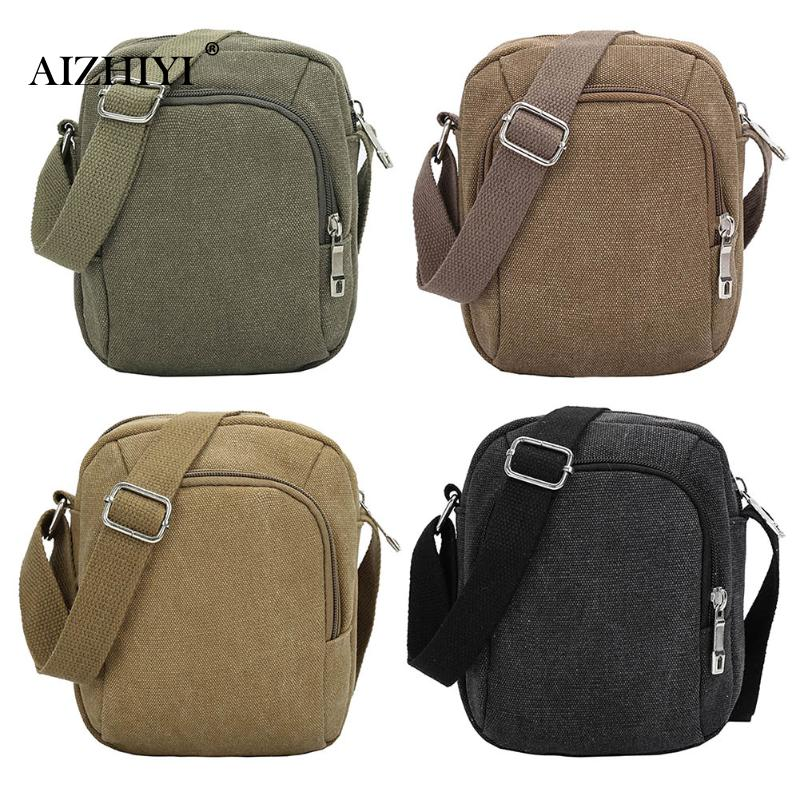 Men Bags Canvas Travel Solid Color Zipper Waist Bags Simple Vintage Designer Fashion Crossbody Shoulder Bag Casual Travel Bag army green vintage men s messenger bags canvas shoulder bag fashion men travel crossbody bag for boy school shoulder bags g036