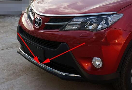 ABS Chrome Front Grille Around Trim Racing Grills Trim For 2014 Toyota RAV4 abs chrome front grille around trim racing grills trim for 2010 2011 hyundai santa fe decorative protection