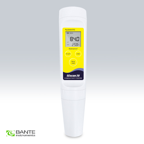 Brand BANTE Multi-range pocket Conductivity tester METER Pen Analyzer Waterproof Wastewater Electroplating Printing industry free shipping pen type conductivity monitor tester meter analyzer range 0 19990us resolution 10us accuracy 1