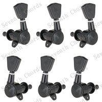 A Set 6Pcs chrome Locked String Tuners Tuning Pegs Machine Heads For Acoustic Electric Guitar accessories parts