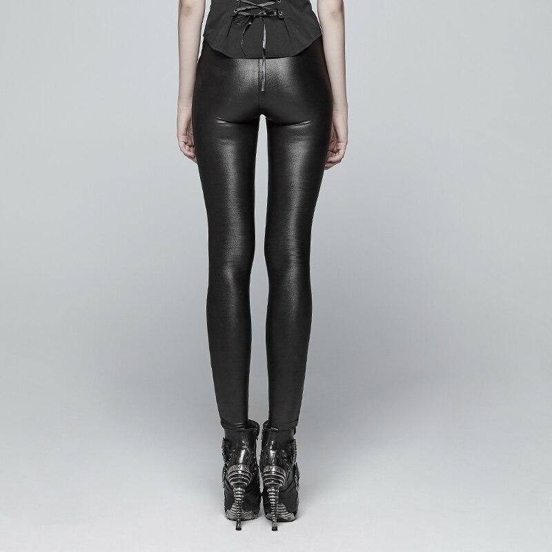 Vrouwen latex jarretel broek sexy rubber leggings zonder voeten - 3