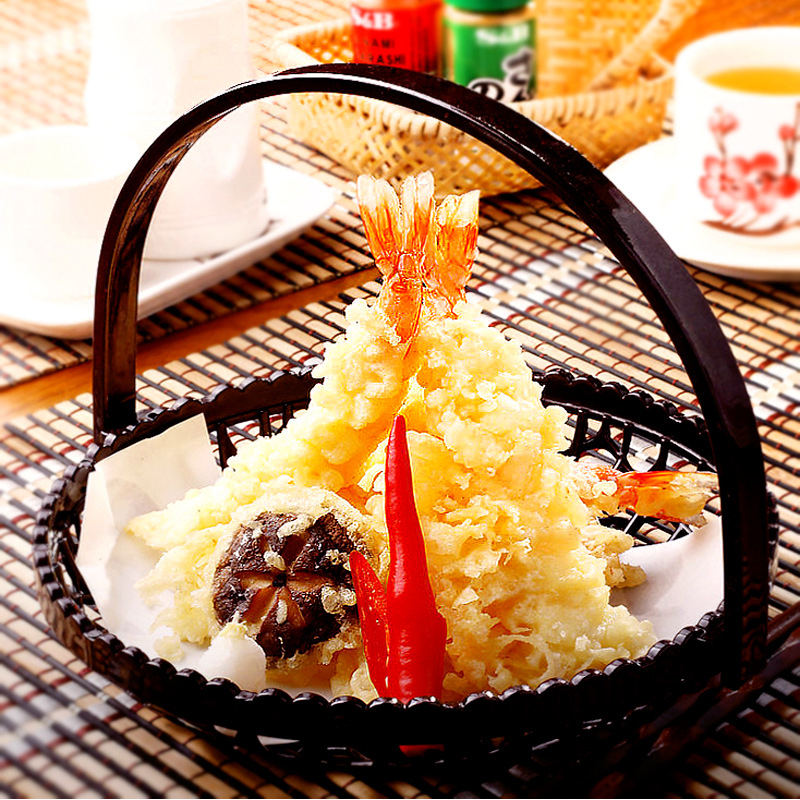 Japanese French Fires Tempura Basket Sushi Dessert Bread Food Plates Restaurant Snack Cake Food