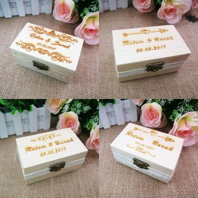 Kundenspezifische Name Hochzeit Ring Box Engagement Personalisierte