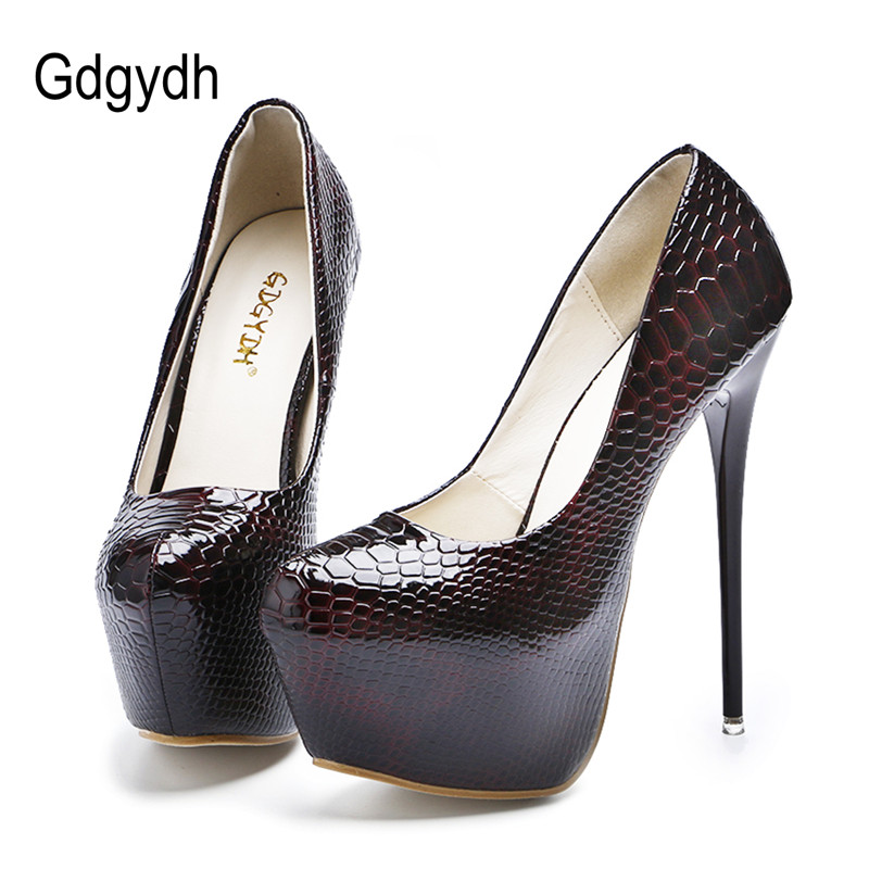 Gdgydh New Sexy Thin High Heels Shoes Women Pumps 2017 Spring Round Toe Platform Single Shoes Women Wedding Party avvvxbw 2017 spring women s pumps high heels platform shoes diamond peep toe thin heels sexy women s wedding shoes pumps c372