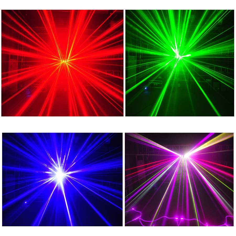 Image 3 - 900mW led laser stage lighting 4 head 4 tunnels principal white color fill in light 6 colors laser beam effects laser light-in Stage Lighting Effect from Lights & Lighting