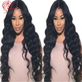 Fluffy Long Peruvian Virgin Hair Body Wave Full Lace Wigs Peruvian Lace Front Human Hair Afro Wigs 8A Full Lace Human Hair Wigs