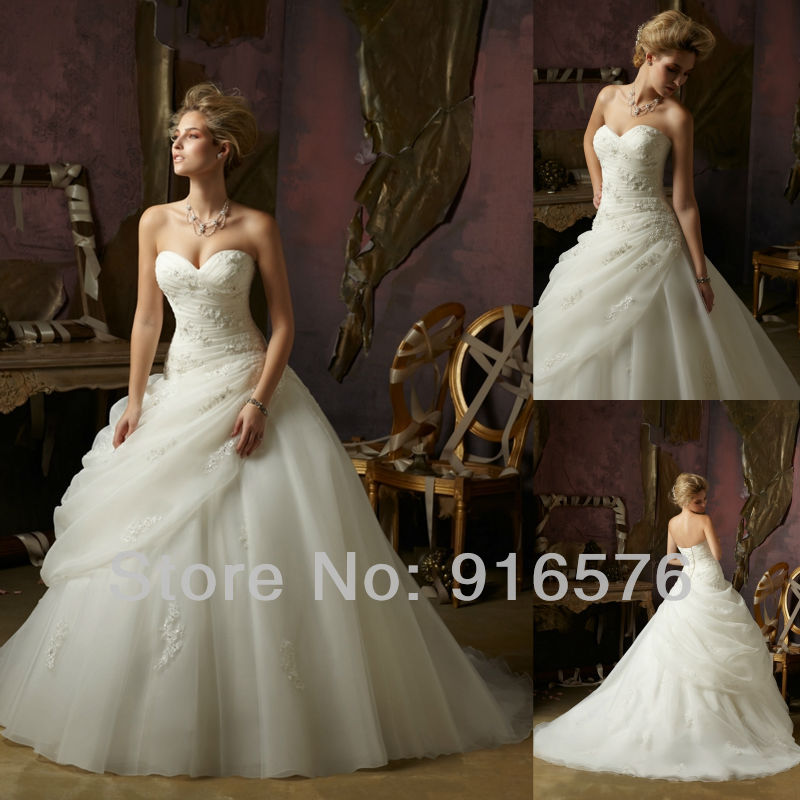 Wedding Gown 2013: 2013 New Arrival Dresses Wedding Dress Sweetheart Plus
