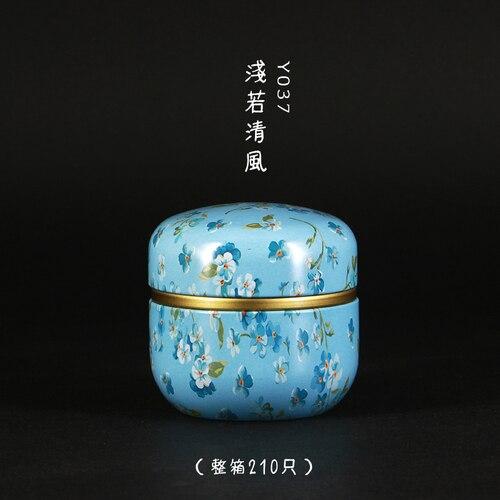50 мл японский стиль кухонный чай коробка банка держатель для хранения сладкие конфеты банки чайная посуда чайные добавки жестяные контейнеры коробка для хранения - Цвет: 06