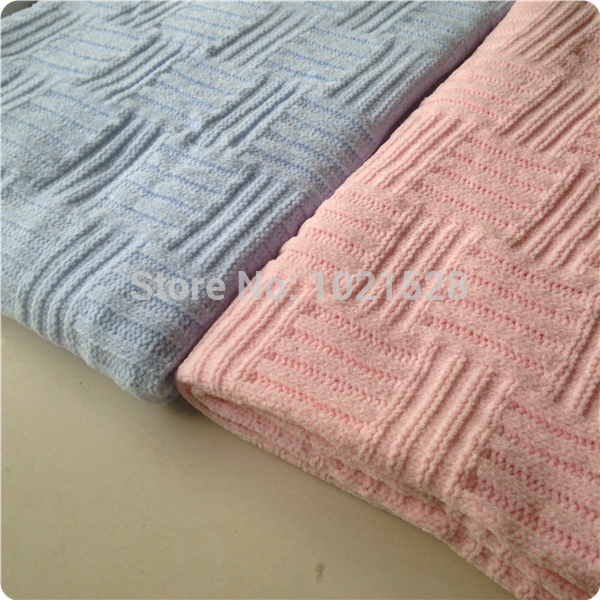 Aliexpress.com   Buy 102 76cm beige pink blue chenille knitted blanket baby  throw blanket kids sofa knit thread blanket cover nap blankets office from  ... b50a1018a