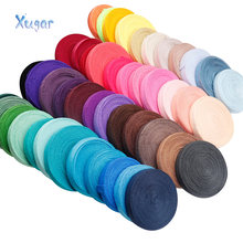 10Y düz renk ucuz parlak elastik fazla Fold için Spandex bandı çocuklar saç kravat bandı elbise dantel Trim dikiş 5/8