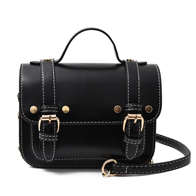 Women Fashion Top PU Leather Bags Small Crossbody Girls Lock Chain Bags for Girls Flap Leather Women Shoulder Bags Drop Shopping