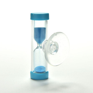 1Pcs 2 Minute Hourglass Sand Timer Clock Sandglass For Tooth Brush Shower Timer With Suction Cup Kid Child Math Learning Toys(China)