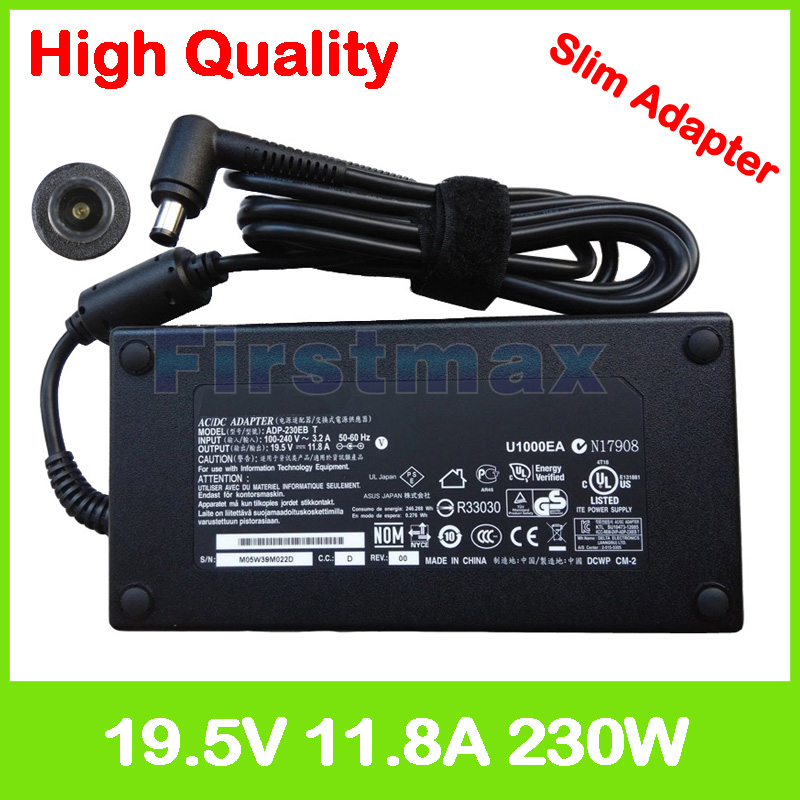 Slim 19.5V 11.8A laptop charger 90XB01QN-MPW060 NW230-01 SADP-230AB DE ADP-230CB B AC power adapter for <font><b>Asus</b></font> <font><b>ROG</b></font> G750JZ <font><b>G751JT</b></font> image