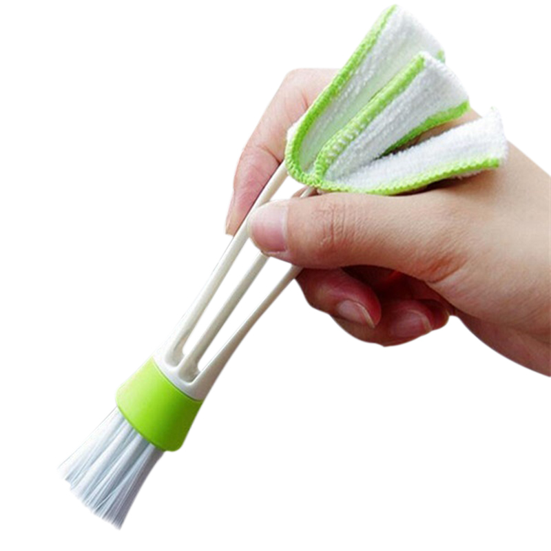 Trabajo Duro Plástico Coche Aire Acondicionado Ventilación Persianas Polvo Limpiador Limpieza Cepillo Coche Aire Acondicionado Herramienta De Limpieza Colector De Polvo