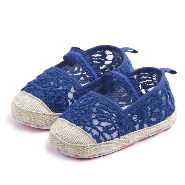 f8ee850f725c3 US $3.73 15% OFF|Pretty Baby Girl Newborn Shoes Spring Summer Sweet Very  Light Mary Jane Knitted Dance Ballerina Dress Pram Crib Shoe-in First  Walkers ...